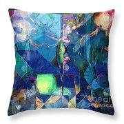 Celestial Sea Throw Pillow by RC deWinter