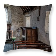Celynnin Church V2 Throw Pillow by Adrian Evans