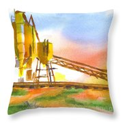Cement Plant II Throw Pillow by Kip DeVore