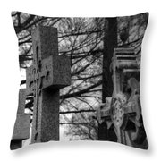 Cemetery Crosses Throw Pillow by Jennifer Ancker