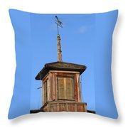 Centered Weathervane Throw Pillow by Debbie Finley