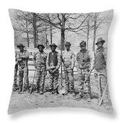 CHAIN GANG c. 1885 Throw Pillow by Daniel Hagerman