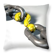 Chain Missing Link Question Throw Pillow by Allan Swart