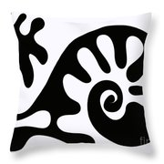Chair design in black. 2013 Throw Pillow by Cathy Peterson