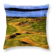 Chambers Bay Lone Tree Throw Pillow by David Patterson