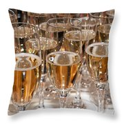 Champagne 01 Throw Pillow by Rick Piper Photography