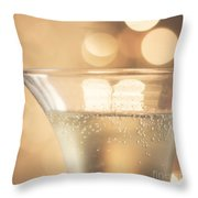 Champagne Celebration Throw Pillow by Kim Fearheiley