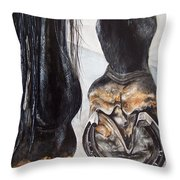 Champion Roadster Throw Pillow by Kathy Laughlin