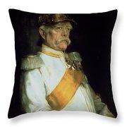 Chancellor Otto Von Bismarck Throw Pillow by Franz Seraph von Lenbach