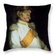 Chancellor Otto Von Bismarck Throw Pillow by Franz Seraph von Lenbach