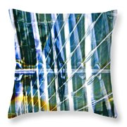 Chaos Throw Pillow by Gwyn Newcombe