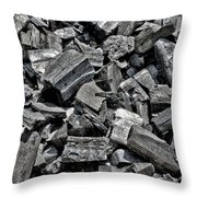 Charcoal Throw Pillow by Olivier Le Queinec