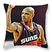 Charles Barkley Throw Pillow by Florian Rodarte