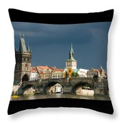 Charles Bridge Prague Throw Pillow by Matthias Hauser