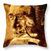 Charles Bukowski - The Love Version Throw Pillow by Richard Tito
