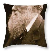 Charles Darwin Throw Pillow by Julia Margaret Cameron