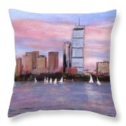 Charles River Boston Throw Pillow by Jack Skinner