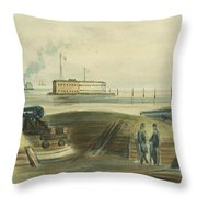 Charlestons Defense circa 1863 Throw Pillow by Aged Pixel