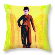 Charlie Chaplin The Tramp Three 20130216p30 Throw Pillow by Wingsdomain Art and Photography