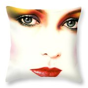 Charlie Girl Throw Pillow by Andrew Farley