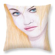 Charlotte Free Throw Pillow by M Valeriano