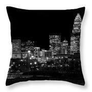 Charlotte Night V2 Throw Pillow by Chris Austin