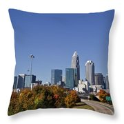 Charlotte North Carolina Throw Pillow by Jill Lang