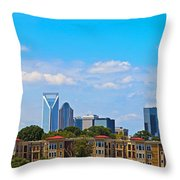 Charlotte Panorama IV Throw Pillow by Gene Berkenbile