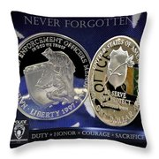 Charlotte Police Memorial Throw Pillow by Gary Yost