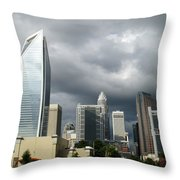 Charlotte Skyline Throw Pillow by Randall Weidner