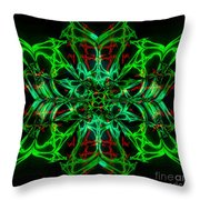 Charlotte's New Freakin' Awesome Neon Web Throw Pillow by Elizabeth McTaggart