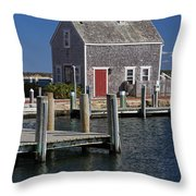 Charming Edgartown Harbor  Throw Pillow by Juergen Roth
