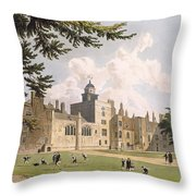 Charter House From The Play Ground Throw Pillow by William Westall