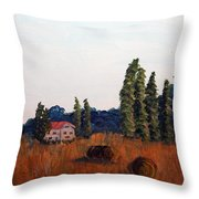 Chateau D'eauville Throw Pillow by Maura Satchell