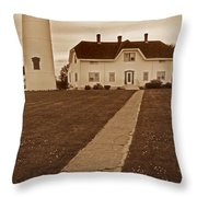 Chatham Lighthouse Throw Pillow by Skip Willits