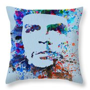 Che Guevara Watercolor Throw Pillow by Naxart Studio