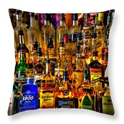Cheers - Alcohol Galore Throw Pillow by David Patterson