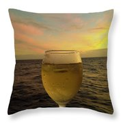 Cheers Throw Pillow by Cheryl Young