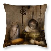 Chef - Ingredients - Breakfast and grandpa's Throw Pillow by Mike Savad