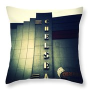 Chelsea Art Deco Blue Throw Pillow by Natasha Marco