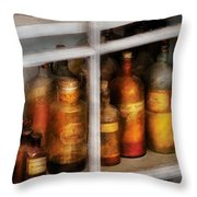 Chemist - Flavor Lab Throw Pillow by Mike Savad