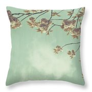 Cherry Blossom In Fulwood Park Throw Pillow by Georgia Fowler