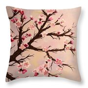 Cherry Blossoms 2 Throw Pillow by Barbara Griffin