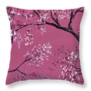 Cherry Blossoms  Throw Pillow by Darice Machel McGuire
