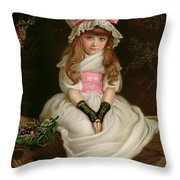 Cherry Ripe Throw Pillow by Sir John Everett Millais