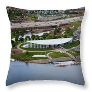 Chesapeake Boathouse  Throw Pillow by Cooper Ross