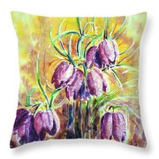 Chess Flowers Throw Pillow by Zaira Dzhaubaeva