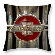 Chevy Emblem Throw Pillow by Paul Freidlund