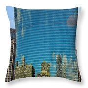 Chicago - 333 West Wacker Drive Throw Pillow by Christine Till