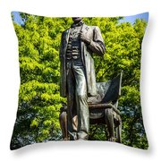 Chicago Abraham Lincoln The Man Standing Statue  Throw Pillow by Paul Velgos